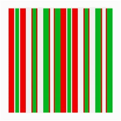 Christmas Holiday Stripes Red green,white Medium Glasses Cloth