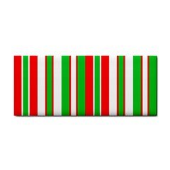 Christmas Holiday Stripes Red green,white Cosmetic Storage Cases
