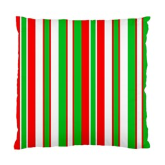 Christmas Holiday Stripes Red Green,white Standard Cushion Case (one Side)