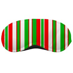 Christmas Holiday Stripes Red green,white Sleeping Masks
