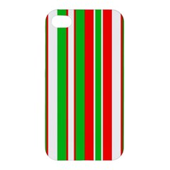 Christmas Holiday Stripes Red green,white Apple iPhone 4/4S Hardshell Case