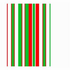 Christmas Holiday Stripes Red green,white Small Garden Flag (Two Sides)