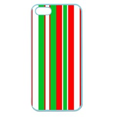 Christmas Holiday Stripes Red green,white Apple Seamless iPhone 5 Case (Color)
