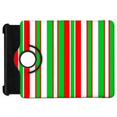 Christmas Holiday Stripes Red Green,white Kindle Fire Hd 7