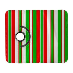 Christmas Holiday Stripes Red green,white Galaxy S3 (Flip/Folio)