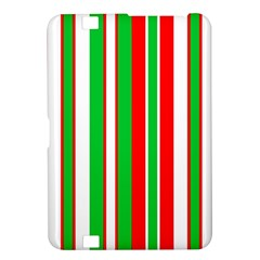 Christmas Holiday Stripes Red green,white Kindle Fire HD 8.9