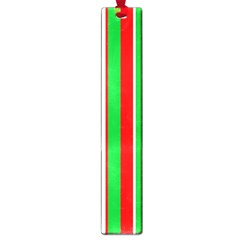 Christmas Holiday Stripes Red Green,white Large Book Marks