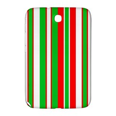 Christmas Holiday Stripes Red green,white Samsung Galaxy Note 8.0 N5100 Hardshell Case