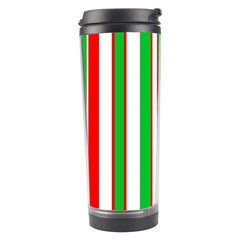 Christmas Holiday Stripes Red Green,white Travel Tumbler
