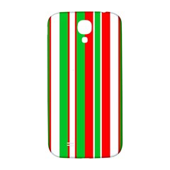 Christmas Holiday Stripes Red green,white Samsung Galaxy S4 I9500/I9505  Hardshell Back Case