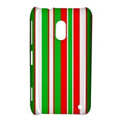 Christmas Holiday Stripes Red green,white Nokia Lumia 620