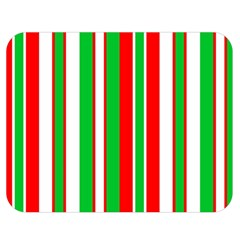 Christmas Holiday Stripes Red green,white Double Sided Flano Blanket (Medium)