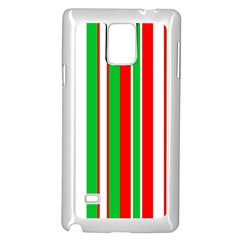 Christmas Holiday Stripes Red green,white Samsung Galaxy Note 4 Case (White)