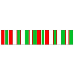Christmas Holiday Stripes Red green,white Flano Scarf (Small)
