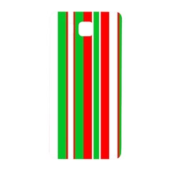 Christmas Holiday Stripes Red green,white Samsung Galaxy Alpha Hardshell Back Case