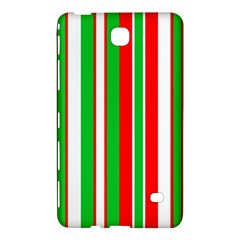 Christmas Holiday Stripes Red green,white Samsung Galaxy Tab 4 (7 ) Hardshell Case