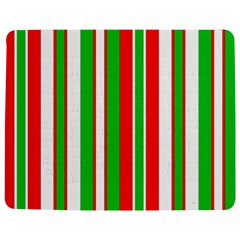 Christmas Holiday Stripes Red green,white Jigsaw Puzzle Photo Stand (Rectangular)