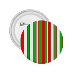 Christmas Holiday Stripes Red green,white 2.25  Buttons