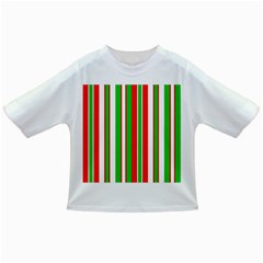 Christmas Holiday Stripes Red green,white Infant/Toddler T-Shirts