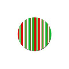 Christmas Holiday Stripes Red green,white Golf Ball Marker