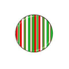 Christmas Holiday Stripes Red green,white Hat Clip Ball Marker (4 pack)