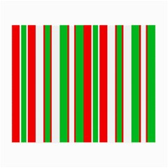 Christmas Holiday Stripes Red green,white Small Glasses Cloth