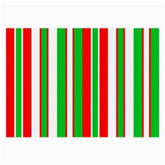 Christmas Holiday Stripes Red green,white Large Glasses Cloth
