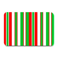 Christmas Holiday Stripes Red green,white Plate Mats