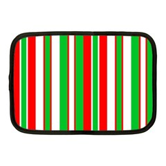 Christmas Holiday Stripes Red green,white Netbook Case (Medium)