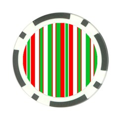 Christmas Holiday Stripes Red green,white Poker Chip Card Guard (10 pack)