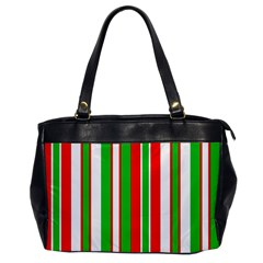 Christmas Holiday Stripes Red green,white Office Handbags