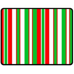 Christmas Holiday Stripes Red green,white Fleece Blanket (Medium)