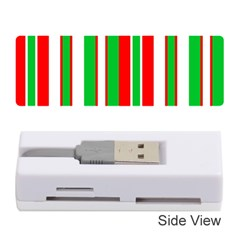 Christmas Holiday Stripes Red green,white Memory Card Reader (Stick)
