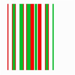 Christmas Holiday Stripes Red green,white Large Garden Flag (Two Sides)