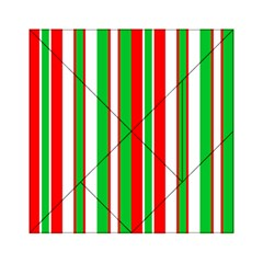 Christmas Holiday Stripes Red green,white Acrylic Tangram Puzzle (6  x 6 )