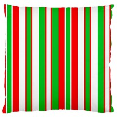 Christmas Holiday Stripes Red green,white Large Cushion Case (One Side)