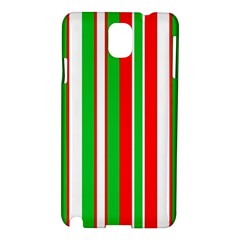 Christmas Holiday Stripes Red Green,white Samsung Galaxy Note 3 N9005 Hardshell Case