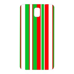 Christmas Holiday Stripes Red green,white Samsung Galaxy Note 3 N9005 Hardshell Back Case