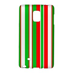 Christmas Holiday Stripes Red green,white Galaxy Note Edge