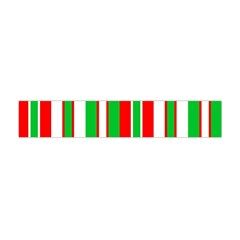 Christmas Holiday Stripes Red green,white Flano Scarf (Mini)