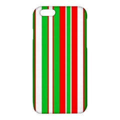 Christmas Holiday Stripes Red green,white iPhone 6/6S TPU Case