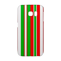 Christmas Holiday Stripes Red green,white Galaxy S6 Edge