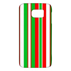Christmas Holiday Stripes Red green,white Galaxy S6