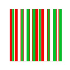 Christmas Holiday Stripes Red green,white Small Satin Scarf (Square)