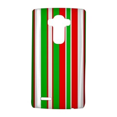 Christmas Holiday Stripes Red green,white LG G4 Hardshell Case