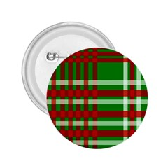 Christmas Colors Red Green White 2.25  Buttons