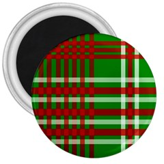Christmas Colors Red Green White 3  Magnets