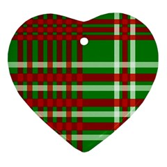 Christmas Colors Red Green White Ornament (Heart)