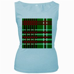 Christmas Colors Red Green White Women s Baby Blue Tank Top