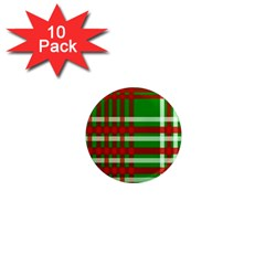 Christmas Colors Red Green White 1  Mini Magnet (10 pack)